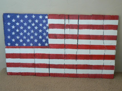 reclaiming a pallet for a flag