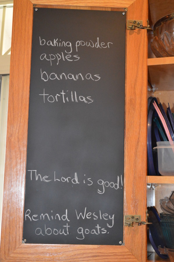 chalkboard menu before and after