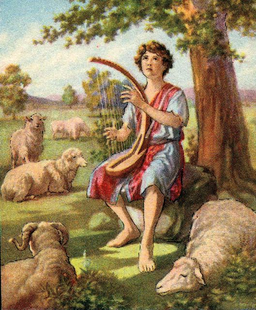 David Playing the Lyre as He Watches His Sheep I Samuel 16:11